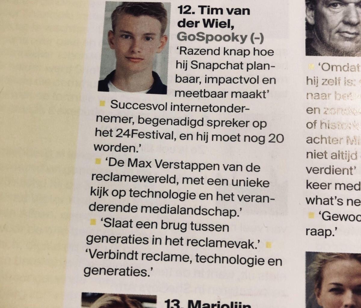 Tim van der Wiel - Adformatie